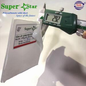 Polycarbonate super star 3mm