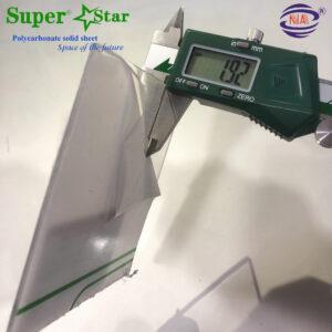 Polycarbonate super star 2mm